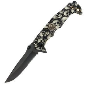 Black Legion Skull Camo Knife