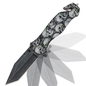Black Legion Green-Eyed Skull Knife