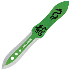 Black Legion Emerald Dragon Triple Throwing Knife
