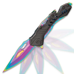 Rampage Rainbow Atomica Assisted Opening Pocket Knife