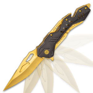 Rampage Gold Atomica Assisted Opening Pocket Knife
