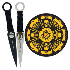 Fantasy Skull Dozen-Throwing Set with Board